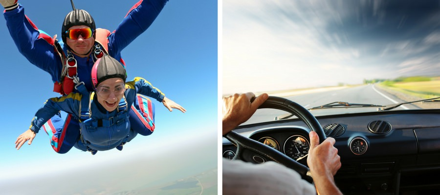 Which Is Safer: Skydiving or Driving