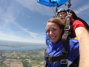 tandem student enjoys scenic canopy ride